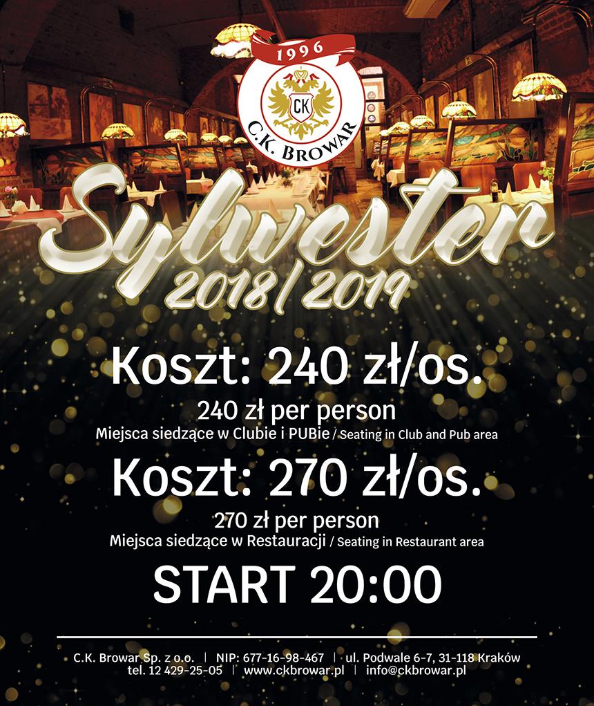 Sylwester 2018 2019 Cennik Ck Browar Dobra Restauracja Pub
